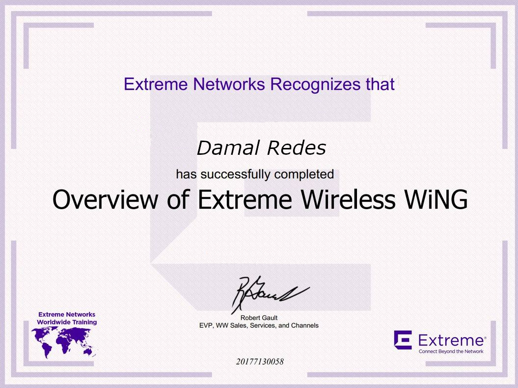 Extreme Networks WirelessWiNG Overview